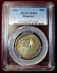 1924 HUGUENOT WALLOON COMMEMORATIVE HALF  SLABBED PCGS MS 64 FULLY ORIGINAL