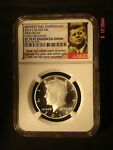2014 S NGC SP70 PL ENHANCED EARLY RELEASE KENNEDY 50TH ANN. PROOF LIKE COIN