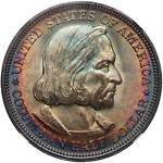 1892 COLUMBIAN SILVER HALF DOLLAR  NGC MS 65 & CAC THE KING OF TONED COINS