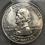 1925 FORT VANCOUVER COMMEMORATIVE HALF PCGS MS 64 FLASHY WHITE COIN