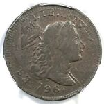 1796 S 91 R 3 PCGS F 15 FLIP OVER DBL STRIKE LIBERTY CAP LARGE CENT COIN 1C