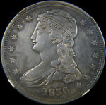 1836 REEDED EDGE BUST HALF DOLLAR GR 1 NGC XF DETAILS