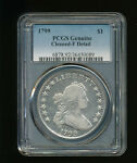 1799 P DRAPED BUST SILVER DOLLAR PCGS GENUINE CLEANED FINE DETAIL HERALDIC EAGLE