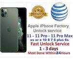 at&t iphone 10 8 7 plus 6s 6 pro max xs xr x se apple Factory Unlock Service att
