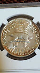1936 WISCONSIN SILVER 50C HALF DOLLAR MS 66 NGC AWESOME GOLDEN TONING