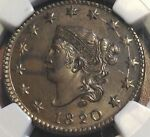 1820 LARGE CENT NGC MS62BN GREAT FOR GRADE PRICE REDUCED CHN