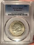 1936 50C PCGS MS 67 BRIDGEPORT COMMEMORATIVE HALF DOLLAR