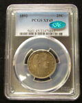 1892  BARBER QUARTER 25C PCGS XF45 CAC PQ ORIGINAL SILVER COIN FIRST YEAR ISSUE
