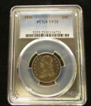 1836 CAPPED BUST QUARTER  PCGS VF25 25C TONING NICE ORIGINAL COIN  16348EB