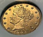 1883 NO CENTS LIBERTY NICKEL OLD ANACS MS62 LOOKS BETTER CHN