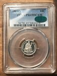 1884 SEATED LIBERTY DIME PROOF PCGS PR65DCAM CAC