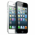 """Apple iPhone 5 16GB """"Factory Unlocked"""" Black and White Smartphone MFR"""