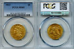 1813 $5 GOLD COIN PCGS MS60