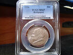 1936 MS67 BRIDGEPORT SILVER COMMEMORATIVE PCGS CERTIFIED SUPERB GEM