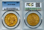 1867 $20 GOLD COIN PCGS MS60