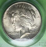 1921 $1 PEACE DOLLAR HIGH RELIEF PCGS MS62 CAC AMAZING BLAST
