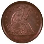 1838 PARTIAL DRAPERY LIBERTY SEATED DIME LARGE STARS NGC MS65