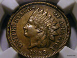 1863 INDIAN HEAD CENT   NGC AU 53   NICE   CHECK IT OUT