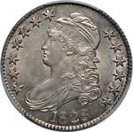 1828 CAPPED BUST HALF DOLLAR   PCGS AU55   CURL BASE 2 KNOB   BEAUTIFUL COIN