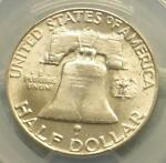 1963 D PCGS MS64   FBL SILVER FRANKLIN MS 64 PLUS FULL BELL LINE POP 21 COIN