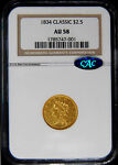 1834 QUARTER EAGLE   1834 $2.50 NGC AU58 CAC