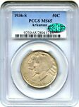 1936 S ARKANSAS 50C PCGS/CAC MS65   LOW MINTAGE ISSUE   LOW MINTAGE ISSUE