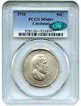 1936 CINCINNATI 50C PCGS/CAC MS66 LOW MINTAGE ISSUE   LOW MINTAGE ISSUE