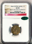 1864 COPPER NICKEL INDIAN HEAD CENT   NGC CERTIFIED AU 58 CAC