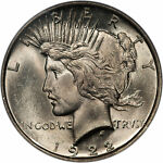 1922 PEACE DOLLAR $1 PCGS MS 63 CAC APPROVED  84745301  TOP 50 VAM 12A MOUSTACHE