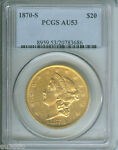 1870 S $20 LIBERTY PCGS AU53 NICE AU 53 ALMOST UNCIRCULATED  DATE