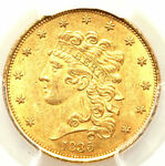 1835 $5 MS61 PCGS ONLY 50 IN HIGHER CONDITIONS CLASSIC HEAD HALF EAGLE