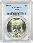 1971 S $1 PCGS MS66  SILVER  EISENHOWER DOLLAR
