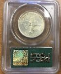{BJSTAMPS} 1935 OLD SPANISH TRAIL COMMEMORATIVE HALF DOLLAR PCGS MS64 OLD GREEN