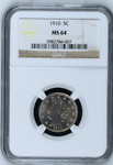 1910 5C MS64 NGC | LIBERTY | V NICKEL 5 C | BIN  SKU.CC
