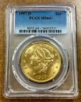 1907 D LIBERTY GOLD DOUBLE EAGLE $20 PCGS MS64  PLUS   IN HIGH GRADE