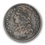 1836 CAPPED BUST QUARTER ANACS EF 45 SMALL SIZE US TYPE COIN SHARP