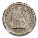 1858 O NO MOTTO SEATED LIBERTY QUARTER 25C NGC XF 40 EXTRA FINE NEW ORLEANS