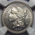 1880 NGC PF67 THREE CENT NICKEL