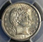 1892 O PCGS MS62 BARBER QUARTER NEW ORLEANS UNCIRCULATED 90  SILVER SHIPS FREE