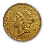 1851 LIBERTY DOUBLE EAGLE TYPE 1 $20 NGC AU 58 ABOUT UNCIRCULATED CAC APPROVED