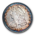 1831 10C CAPPED BUST DIME PCGS AU 58 ABOUNT UNCIRCULATED COLORFUL TONED BEAUTY