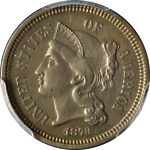 1873 THREE  3  CENT NICKEL CLOSED '3' PCGS PROOF DETAILS NICE EYE APPEAL