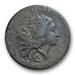 1793 WREATH 1C FLOWING HAIR LARGE CENT PCGS VG GOOD DETAILS VINE AND BAR
