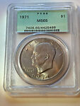 1971 P PCGS MS65 SILVER IKE DOLLAR  OGH  CLAD /  AND INSURANCE