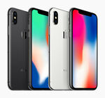 Apple iPhone X 256GB (Factory GSM Unlocked) A + Free 3 Months Phone Plan