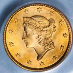 1850 PCGS MS65 CAC GOLD DOLLAR ITEMT3558