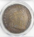 PCGS GENUINE 1799  DRAPED BUST SILVER $ HERALDIC EAGLE REV  LRG EAGLE VF DETAILS