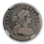1803 SMALL 8 DRAPED BUST HALF DIME  LM 1 H10C NGC G 4 LESS THAN 25 KNOWN