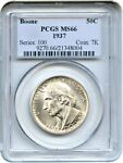 1937 BOONE 50C PCGS MS66   LOW MINTAGE ISSUE   SILVER CLASSIC COMMEMORATIVE