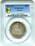1873 CC 50C PCGS F12  ARROWS  AFFORDABLE  DATE   AFFORDABLE  DATE